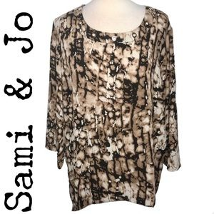 Sami & Jo Animal Print Blouse